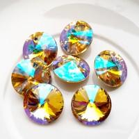 Rivoli kristalas crystal AB sp., 14 mm, 1 vnt.