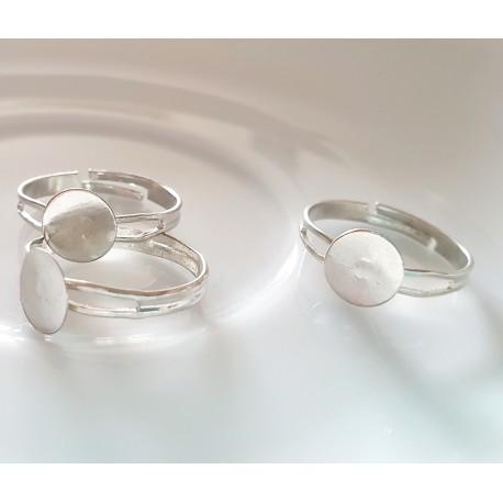 Žiedo pagrindas sidabro sp., dydis reguliuojamas, 1 vnt.