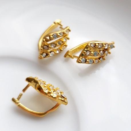 Detalė pakabukui aukso sp. su kristalais, MET 1330, 1 vnt.