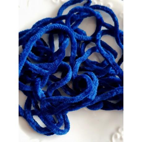 Šenilinis siūlas siuvinėjimui, karališka mėlyna, 1 metras