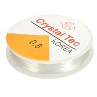 Elastinis dirželis skaidrios spalvos, 0,8mm, 10 metrų