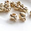 Plastikinis intarpas su kilpute, pakabiklis aukso sp., 13x7mm, 1 vnt.