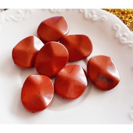 Jaspis raudonas, netaisykl. formos, 25x21mm, 1 vnt.