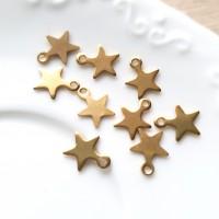 Pakabukas žvaigždutė, aukso sp., 10x8mm, 1 vnt.