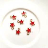 Pakabukas žvaigždutė raudonos sp., 9mm, 1 vnt.