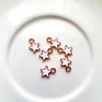 Pakabukas žvaigždutė rožinės sp., 9mm, 1 vnt.