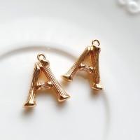 Pakabukas A raidė, aukso sp., 18x16mm, 1 vnt.