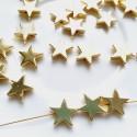 Hematitas aukso sp. žvaigždutė, 10 mm, 1 vnt.