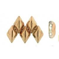 GemDuo karoliukai (Apollo gold - aukso sp) 5/8mm - 33 vnt.