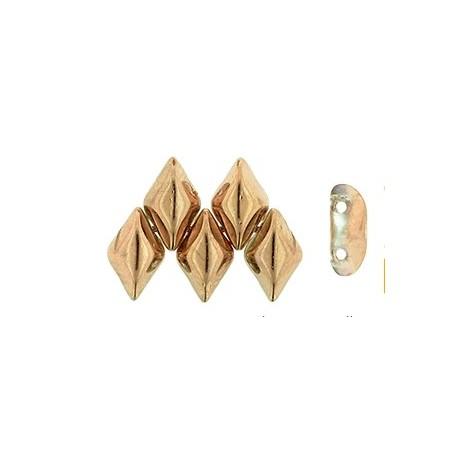 GemDuo karoliukai (Spollo gold - aukso sp) 5/8mm - 10 vnt
