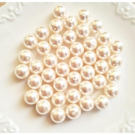 Perlai Preciosa, baltos sp., čekiškas krištolas, 8 mm, 10 vnt.
