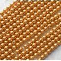 Stikliniai perlai aukso sp. 9 mm, 1 vnt.