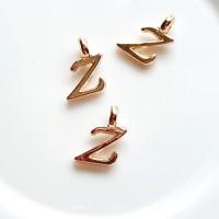 Pakabukas Z raidė, nerūd. plieno, aukso sp., 11x7mm, 1 vnt.