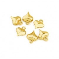Širdelė pakabukas aukso sp. nerūdijančio plieno 8x10mm, 1 vnt.