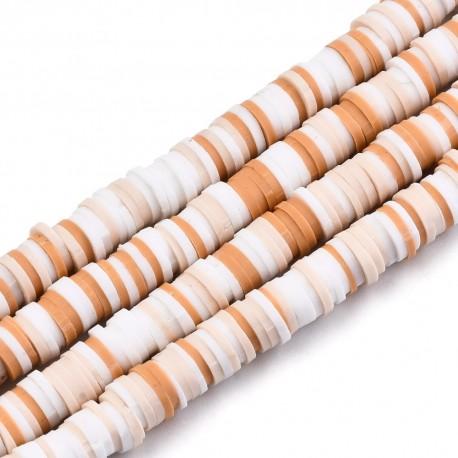 Modelino karoliukai plokšti, 6-0,5~2 mm, 1 vėrinys