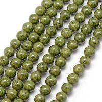 Fosilas (žalias), apvalus 8 mm