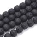 Lava juoda, apvalūs, 10 mm, 1 vnt.