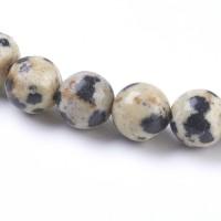 Jaspis (dalmantininis), apvalus 4 mm (1 vnt.)