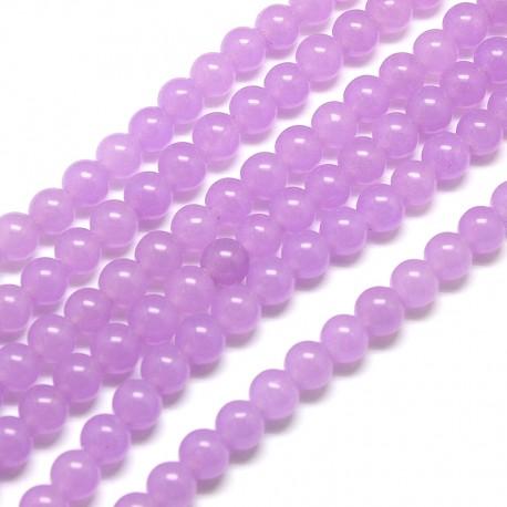 Nefritas purpurinis, apvalus 6 mm, 1 vnt.
