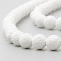 Lava balta, apvalūs, 6 mm, 1 vnt.