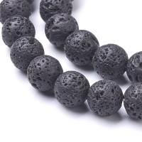 Lava juoda, apvalūs, 6 mm, 1 vnt.
