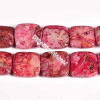 Agate fuchsia, kvadratas 16 mm