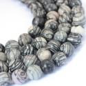 Jaspis (dryžuotas), apvalus 8 mm (1 vnt.)