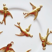 Paskirstytojas paukštis aukso sp., 17x20mm, 1 vnt.