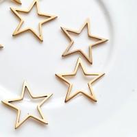 Žvaigždė tuščiavidurė nerūd. plienas, aukso sp., 17mm, 1 vnt.