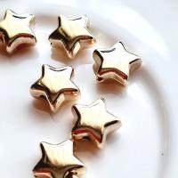 Akrilinės žvaigždutės aukso sp., 3x8mm, 5 vnt