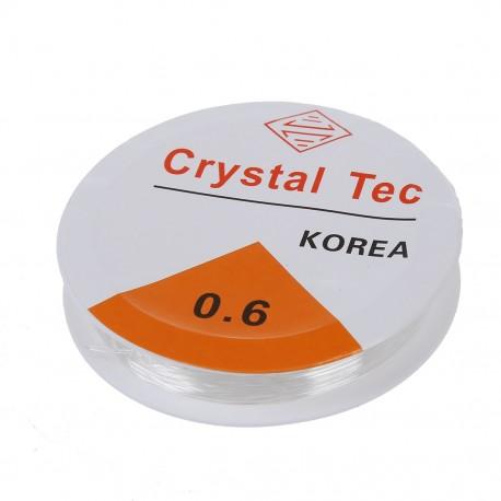 Elastinis dirželis skaidrios spalvos, 0,6mm,  8 metrai