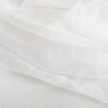 Tiulis, tinklinis audinys, minkštas, baltas, 1 metras