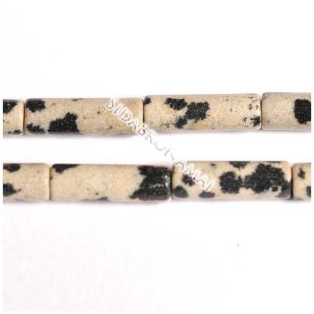 Jaspis (dalmantininis), cilindras 4x13 mm (1 vnt.)