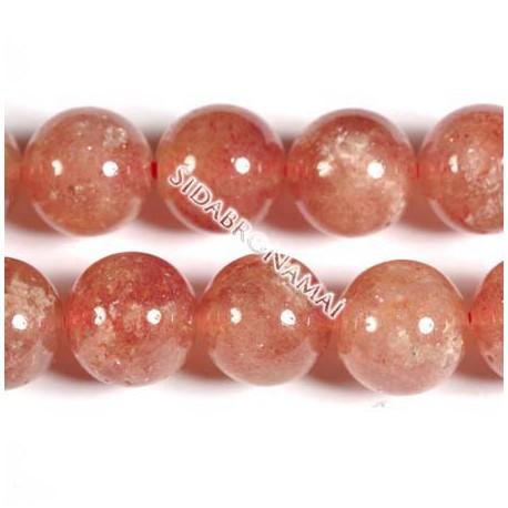 Kvarcas rubininis, apvalus 6 mm