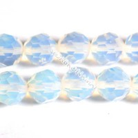 Opalas sintetinis, apvalus briaunuotas 8 mm