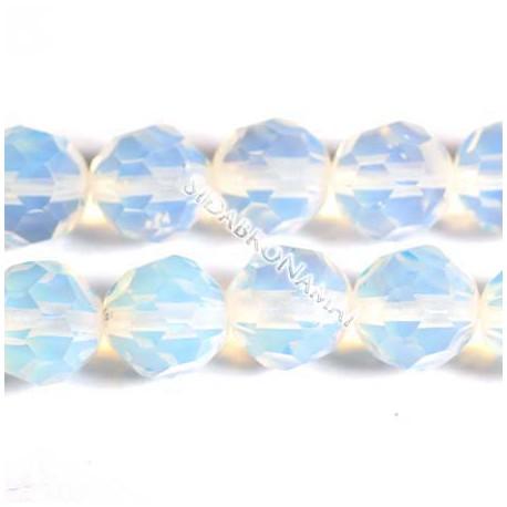 Opalas, apvalus briaunuotas 8 mm