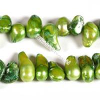 Perlai-pūslelės keši, žalios sp. 10-15 mm (5vnt.)