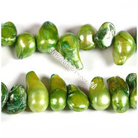 Perlai-pūslelės, žalios sp. 10-15 mm (10vnt.)