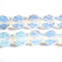 Opalas sintetinis, apvalus briaunuotas 10 mm.