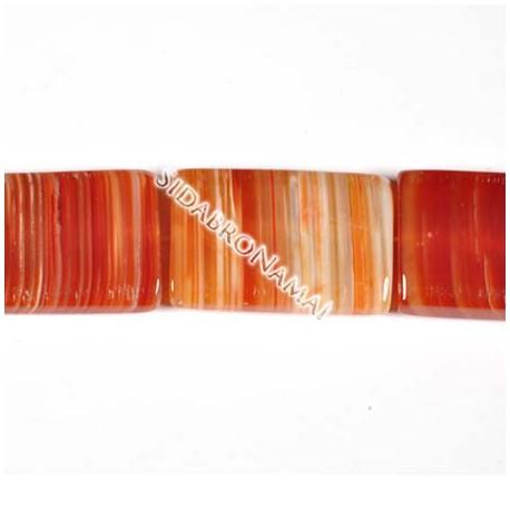 Agatas (raudonasis sardonikso), stačiakampis 20x30 mm.
