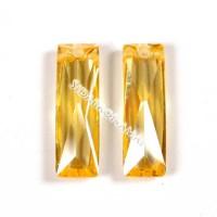 Cirkonis, citrininės sp.,stačiakampis 5x16x4